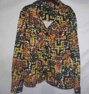 Attyre Stretch Fall Colors Jacket XL Plus
